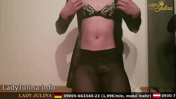 Latex, Sissy, Anal dildo, Cage
