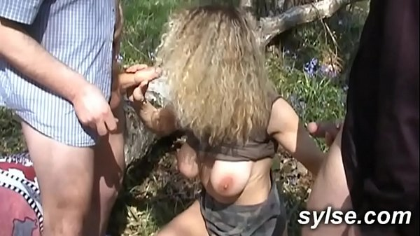 Lesbian strapon, Forest, Dogging, Gangbanged, With dog