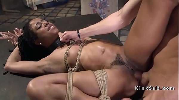 Tied up, Ebony anal
