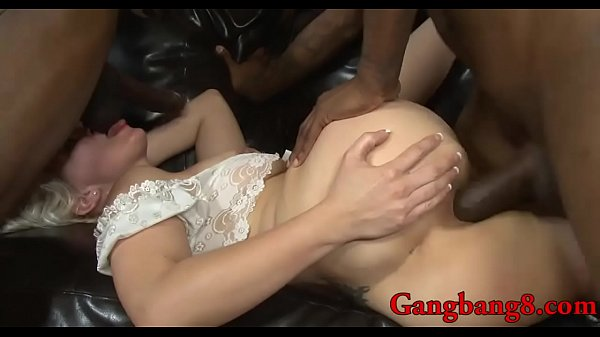 Busty anal, Interracial anal